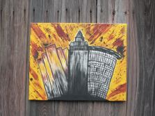 Cleveland Skyline Painting (Cavs Colors)